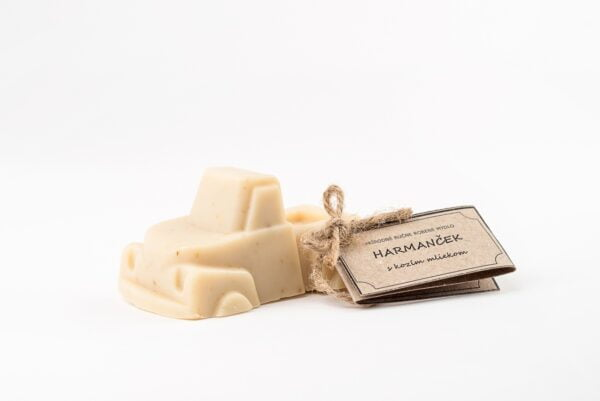 Mydlove detské prírodné harmancekove mydlo s kozim mliekom