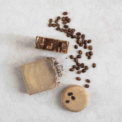 Mydlove kavove produkty