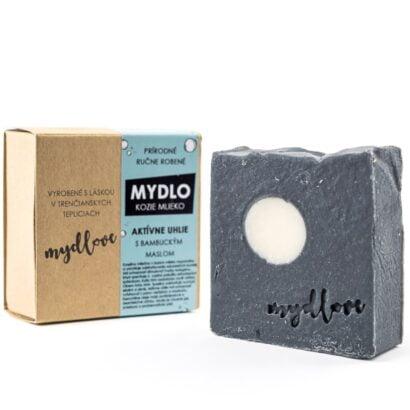 Mydlove prirodne mydlo s kozim mliekom a aktivnym uhlim kocka