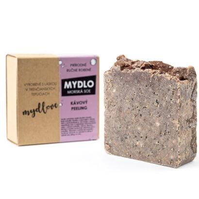 Mydlove prirodne mydlo s morskou solou kavove pilingove